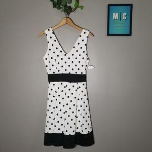 Maru Black and White Polka Dot Sleeveless Dress